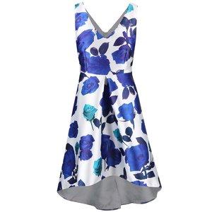 Rochie AX Paris albă cu flori albastre