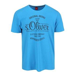 s.Oliver, Tricou s.Oliver albastru cu print