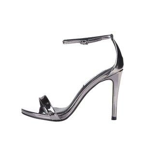 Sandale cu toc Steve Madden Stecy argintii