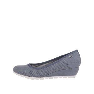 Pantofi cu platformă Tom Tailor gri-albăstrui cu model