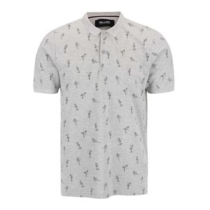 ONLY & SONS, Tricou Polo ONLY & SONS Sinclair gri deschis cu model