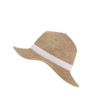 Pălărie de paie Vero Moda Sofie cu panglică albă