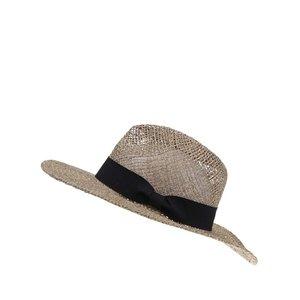 Pălărie de paie Vero Moda Ellen cu panglică neagră