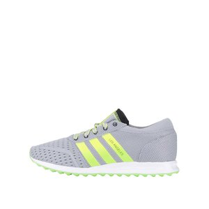 adidas Originals, Pantofi sport adidas Originals Los Angeles gri-verzui
