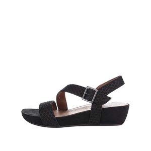 Sandale cu platformă Tamaris negre din piele la pretul de 299.99