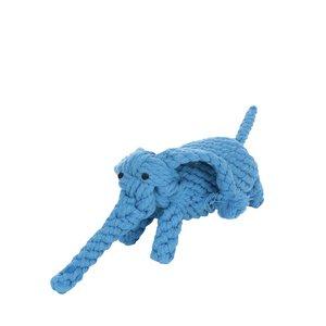 Jucărie pentru câini albastră în formă de elefant
