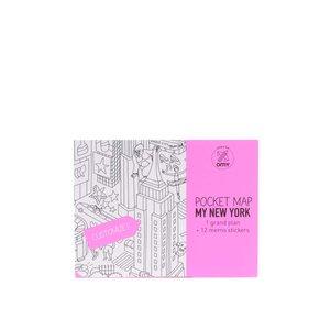 Harta De Buzunar  De Colorat New York Omy