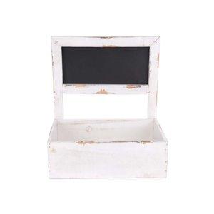 Cutie albă din lemn pentru flori Dakls