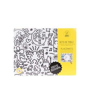 Servet De Masa  De Colorat Keith Haring Omy