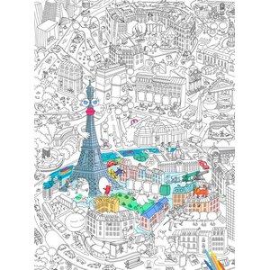 OMY, Poster de colorat Paris OMY