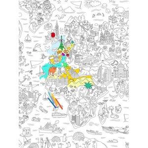 Poster de colorat Atlas OMY la pretul de 95.99