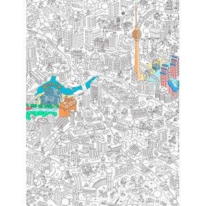 Poster de colorat Berlin OMY