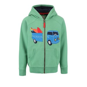 Hanorac Frugi Zip-Up Hoody verde cu print
