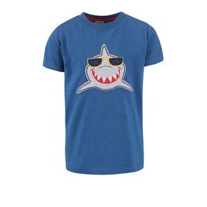 Tricou Frugi Stanley albastru închis cu print rechin