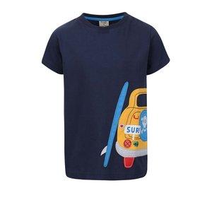Tricou Frugi Stanley albastru cu print mașină