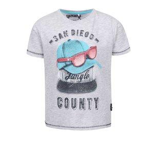 Tricou băieți Name it Ticap gri cu print
