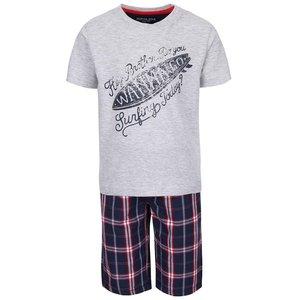 North Pole Kids, Set pantaloni scurți și tricou North Pole Kids gri cu albastru