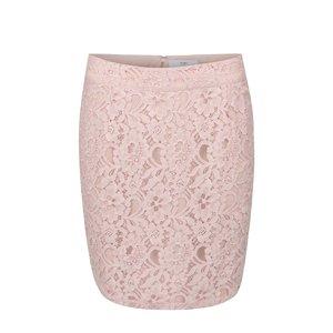 Fustă mini ICHI Aliyah roz din dantelă