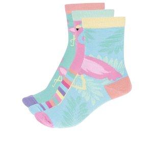 Set 3 Sosete Oddsocks Flamingo