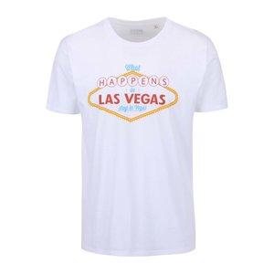 Tricou alb ZOOT Original Las Vegas cu imprimeu text