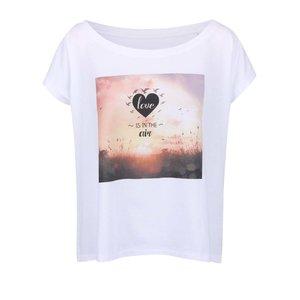 Tricou alb cu imprimeu ZOOT Original Love Is In The Air