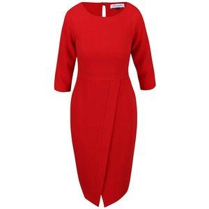 Closet, Rochie roșie bodycon Closet cu panglici în talie