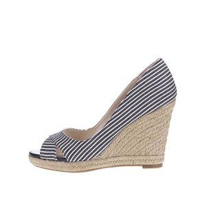 Sandale cu platformă Dorothy Perkins albastre cu imprimeu