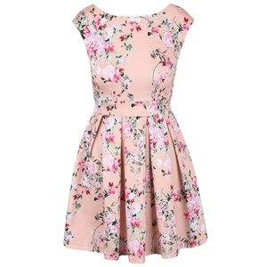 Closet, Rochie roz cu model floral multicolor Closet