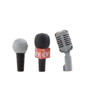 Set de 3 gume de creion Kikkerland – microfon
