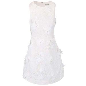 Miss Selfridge, Rochie albă fără mâneci Miss Selfridge cu aplicații florale