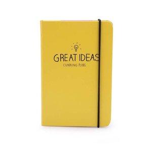 Agendă Happy Jackson Great Ideas galbenă
