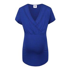 Tricou Mama.licious Anette albastru pentru viitoare mămici