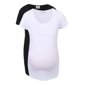 Mama.licious, Set de 2 tricouri Mama.licious Lea alb/negru