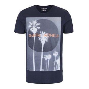 s.Oliver, Tricou albastru închis s.Oliver Santa Monica cu print