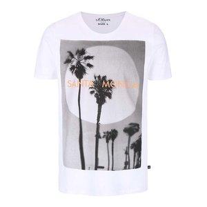 s.Oliver, Tricou alb s.Oliver Santa Monica cu print