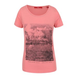 s.Oliver, Tricou roz de damă s.Oliver cu print