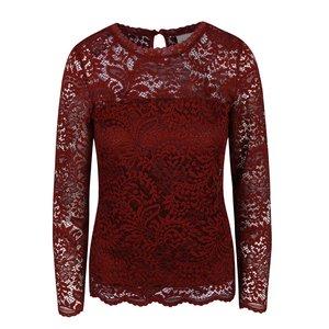 Bluză roșu închis Vero Moda Celeb din dantelă la pretul de 139.99