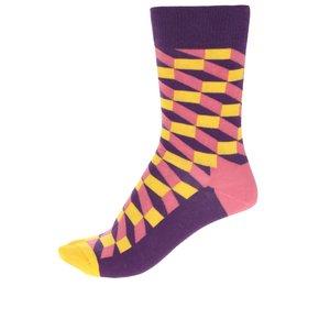 Happy Socks, Șosete multicolore pentru femei Happy Socks Filled Optic