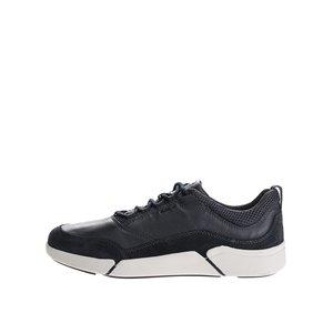 GEOX, Pantofi sport negri din piele cu material textil Geox Ailand