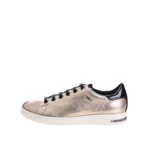 Pantofi sport aurii Geox Jaysen cu detalii negre