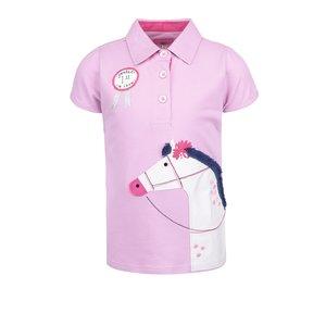 Tom Joule, Tricou roz polo cu imprimeu Tom Joule pentru fete