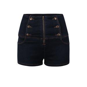 Tally Weijl, Pantaloni scurți bleumarin din denim TALLY WEiJL cu talie înaltă