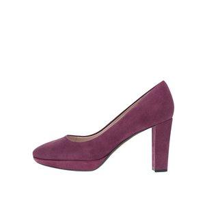 Pantofi cu toc Clarks Kendra Sienna din piele