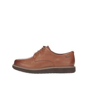 Pantofi maro Clarks Glick Darby GTX din piele la pretul de 579.99