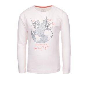 name it, Bluză roz pal pentru fete name it Kavi cu imprimeu