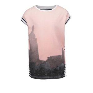 Tricou cu imprimeu și dungi pentru fete name it Karina