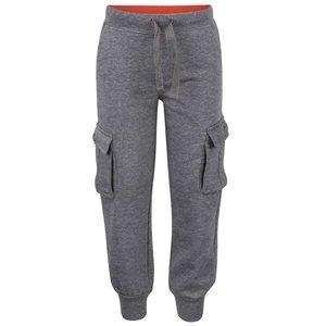 Pantaloni gri sport cu buzunare ample Boboli pentru băieți