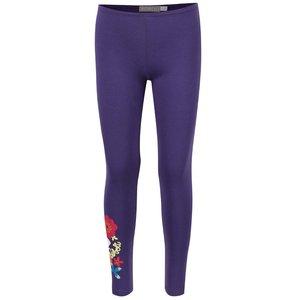 Colanți violet cu model floral Boboli pentru fete