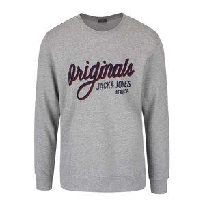 Bluză gri Jack & Jones Type cu logo print la pretul de 111.99