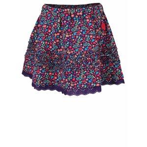 Fustă violet cu model floral Boboli